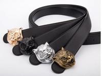cinturones hombre diseñador al por mayor-primavera nueva llegada Hot fashion man Gran hebilla cinturones de diseño de los hombres de alta calidad cinturones de lujo hombres correa de cuero de diseño envío gratis