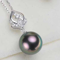 ONe pc zircon solid sterling silver pendant setting,pendant mounting without chain, pendant blank (no pearl), jewelry DIY, gift DIY