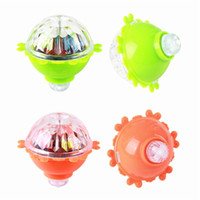 Wholesale glow spinning toy resale online - Nicely Kids Lighting Toys LED Gyro Light Glow Gyro Toys Friction Tops Spinning Tops of Children Kid Toys Gift