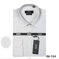 Wholesale checked slim fit shirt - Brand Men's Business Casual shirt mens long sleeve striped slim fit camisa masculina social male T-shirts new fashion man checked shirt GG43