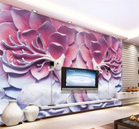 Wholesale 3d Framed Art - Custom Photo Home Decor wall art mural 3D Scandinavian Fresco Scarlet Personality WallpaperVintage Art Frame TV Wall Wallpaper