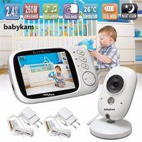 mode vidéo moniteur bébé achat en gros de-VB603 Baby Monitor 3.2 pouces LCD IR Vision Nocturne 2 way Talk 8 Berceuses Température moniteur vidéo nounou radio baby-sitter