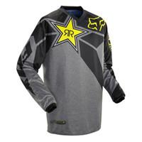 jersey de la motocicleta al por mayor-Moto camisetas 18 nuevos Rockstar Jersey Transpirable Motocross Racing Cuesta abajo Off-road Motocicleta de montaña Sudadera Camiseta
