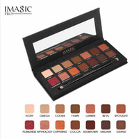 Wholesale eye shading brush - IMAGIC Eyeshadow Palette 14 Colors Eyes Shimmer Matte Eyeshadow Makeup Light Eye Shadow Palette Shades With Brush