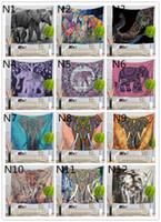 tapices bohemios al por mayor-180 Diseños Tapiz Colgante de pared Lucky Elephant Toalla de playa Mantón de Bohemia Mandala Estera de yoga Mantel de poliéster Tapices Decoración para el hogar