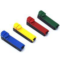 ücretsiz aksesuarlar üreticisi toptan satış-Plastik Renkli Rulo Sigara Haddeleme Makinesi Tek Tüp El Rollbox Maker Yüksek Kalite Yenilikçi Tasarım Sigara Aksesuarları DHL Ücretsiz