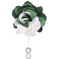 stoffcharme verkauf großhandel-freies Verschiffen heißer Verkauf Charme Qualität 10 Stück / Set Stoff Blume Breastpin Großhandel