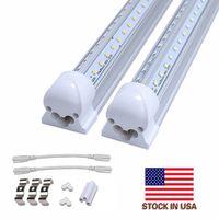 hafif bar dükkanı toptan satış-Entegre LED tavan lambası 4ft 5FT 6FT 8FT LED T8 55W 72W LED tüpleri V şekli dükkanı buzlu kapağı ışıkları