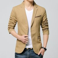 Wholesale Korean Style Jackets Men - Men's Suits 2018 Hot Sale Men Business Blazer High Quality Casual Male Korean Style Skinny Jacket with Two Buttons Youth Suit 3 Colors