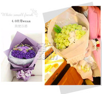 ingrosso bouquet di rose di nastro di raso-Nastro da imballaggio nastro fiore nastro raso raso 4cm / mano rugosa bouquet carta da imballaggio rose origami fatti a mano