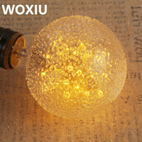 Wholesale vintage squirrel bulbs online - WOXIU Vintage Edison Bulb W Incandescent Antique Dimmable Light Bulb Dimmable for Home Light Fixtures Squirrel Cage Filament E27 G80 V
