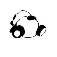 dessin animé de panda violet achat en gros de-à propos de Sleepy Panda autocollant No 2 qualité eau fade preuve vinyle voiture jdm dérive personnalité mode