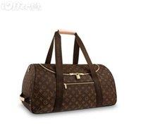 Wholesale ladies luggage bags - M23032 LADY CANVA NEO EOLE 55 TRAVEL LUGGAGE DUFFLE BAG Messenger Shoulder Bags Crossbody HANDBAGS Totes Boston Bags