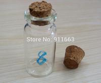 frascos de vidro abertos venda por atacado-100 pçs / lote, 8 ml, 20mm de abertura, frascos de vidro de cor clara com 20mm rolha de cortiça, garrafas de vidro