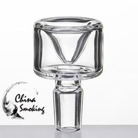 dia inhaber großhandel-Glasschale Dia 33 MM 14mm 18mm Klar männlichen Joint Glas Kraut Halter Rauch Zubehör Für Glas Bong