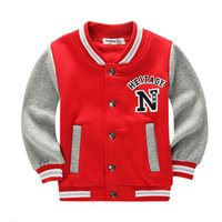 chaquetas escolares para niños al por mayor-Chaquetas escolares de béisbol para estudiantes niños, niñas, chaqueta de primavera, otoño, deportes, baloncesto, ropa de correr para niños.