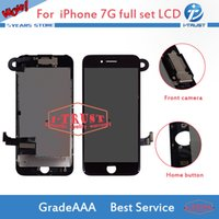 Wholesale camera lcd screen replacement - Full Assmebly For iPhone 7 7G LCD with Front Camera Good Replacement Grade Quality LCD Display Touch Digitizer With Free DHL Shipping
