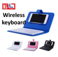 Wholesale mobile bluetooth wireless keyboard - Wireless Bluetooth Keyboard PU Leather Mobile Phone Kepads Case Holder For iphone 678x Case Cover Free DHL