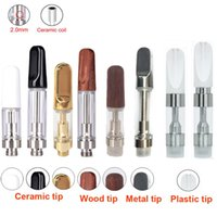 Wholesale Mouth Coil - eCig TH205 th210 Ceramic coil Ceramic mouth extract Oil Vape Cartridges .5ml 1ml 2.0mm holes Wickless atomizer