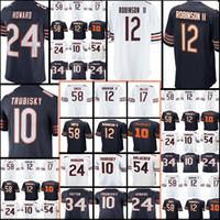 Wholesale 12 Bearing - New 12 Allen Robinson II 10 Mitchell Trubisky 24 Howard 34 Walter Payton 54 Brian Urlacher Jersey Cheap Chicago Men's Bear Football Jerseys