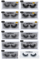 Wholesale individual mink lash extensions - HOT New 3D Mink Eyelashes Eyelashes Messy Eye lash Extension Sexy Eyelash Full Strip Eye Lashes by chemical fiber Thick DHL shipping