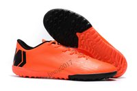 Wholesale Shoes For Mens Football Indoor - 2018 Mens Soccer Cleats Mercurial Vapor XII TF Football Boots Cr7 Cleats Designer Shoes Mens Shoes Soccer Running Shoes for Men