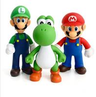 Wholesale yoshi game - 14 design Super Mario Bros toy New Cartoon game Mario Luigi Yoshi Action Figure Super Mario PVC Gift Toys For Kid 12cm KKA4792
