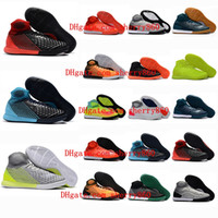 Wholesale cheap original cleats for sale - 2018 original indoor soccer boots MagistaX Proximo II IC TF cleats boots football shoes cheap magista x futsal soccer cleats leather new hot