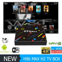 Wholesale Mini Max - 2018 Hot H96 MAX H2 Android 7.1 TV Box Quad Core RK3328 4GB 32GB KD Loaded 2.4G 5G WiFi Bluetooth USB 3.0 Media Player VS X96 MINI MXQ PRO