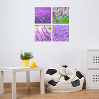 Wholesale Contemporary Floral Wall Paintings - Canvas Wall Art Painting Lavender Landscape Picture Printings on Canvas Contemporary Artwork Stretched and Framed Ready to Hang Home Decor