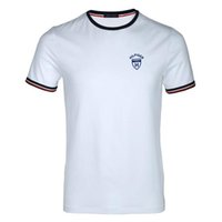 Wholesale men s formal shirts - Free shipping High quality cotton new O-neck short sleeve t-shirt brand men T-shirts casual Flag for sport men polo T-shirt