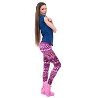 Wholesale legging aztec - New Brands Women Fashion Legging Aztec Round Ombre Printing Leggins Slim High Waist Leggings Woman Pants