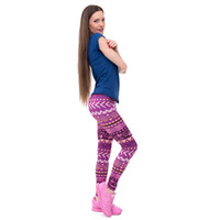 ingrosso leggings aztec-Nuovi Marchi Moda Donna Legging Aztec Round Ombre Stampa Leggins Slim Vita alta Leggings Pantaloni donna