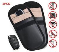 ingrosso anti anello statico-Car Key Key Block Block Caso Keyless Entry Fob Guard Blocco del segnale Sacchetto Sacchetto Antifurto Dispositivi di blocco Protezione del telefono cellulare