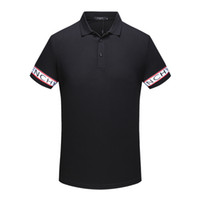 Wholesale Men High Collar T Shirt - Spring Luxury Italy Tee T-Shirt Designer Polo Shirts High Street Embroidery Garter Snakes Little Bee Printing Clothing Mens Brand Polo Shirt