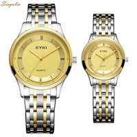 Wholesale high quality watches eyki - New EYKI Top Brand Lover's Watch Couple Gift For Men Women High Quality Quartz Clock