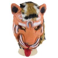 Wholesale Masquerade Ball Props - New Masquerade Masks Tiger Mask Latex Animal Costume Prop Halloween Ball Mask Dropshipping mascherina del par Halloween Supplies