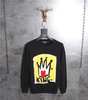 ingrosso hoodie a maglia nera-NewGrrival DOG Ape corona in stile corte come Kurata Maglione Nero a maglia in lana Crown Bee maglia in cotone ricamato con cappuccio Felpa con cappuccio