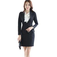 Traje de falda formal de la oficina de otoño de Fmasuth Chaqueta de la  chaqueta de manga larga OL + Camisa blanca + Falda 3 unidades trajes de  negocios ... 32d2b55938c2