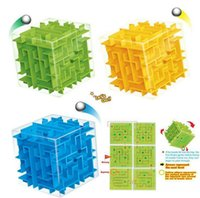 Wholesale mini cube puzzle - Puzzle Maze Magic Cube Toys Mini Speed Cube Puzzles Labyrinth Rolling Ball Cubos Magicos Learning Toy for Chilren Adults BBA222