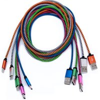 cable usb para samsung edge al por mayor-Micro V8 Cable USB Línea de datos 1 M 3 pies Conector metálico Tipo C Cargador Cables Cable de carga Android para Samsung S7 Edge
