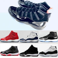 4c2a4ab9f3a3e0 2018 New Prom Night Mens 11 11s Basketball Shoes Iridescent UNC Gym Red  Space Jam 45 Black Out Concord Sports Sneakers 5.5-13