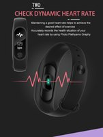 Wholesale pro monitors - M2 pro Bluetooth4.0 Blood Pressure Waterproof IP67 Smart Bracelet Heart Rate Monitor Sleep monitor Wristband for Android iOS free DHL ship