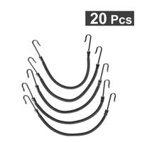 siyah saç örgü bant toptan satış-20 Adet At Kuyruğu Hooks Kafa Saç Pençe Saç Klipler Kauçuk Bantları Şekillendirici Saç Örgü Basit Siyah Klip Bayan Moda ücretsiz kargo