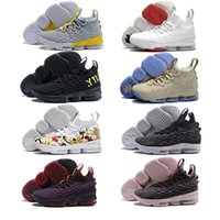 Wholesale new style basketball shoes - Factory outlet Men Basketball Shoes New 15 Sports Shoes EQUALITY Black Grey Mens Trainer Comfortable Sneakers New Color authentic style