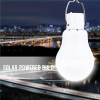 1w 5v led al por mayor-Lámpara de bombilla con energía solar portátil Luz de panel de energía solar cargada 5V para al aire libre Tienda de campaña Pesca Luz de noche