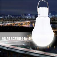 1w 5v led toptan satış-Taşınabilir Güneş Enerjili Ampul Lamba Led Şarj Için Güneş Enerjisi Paneli Işık 5 V Açık Havada Kamp Çadırı Balıkçılık Gece Lambası