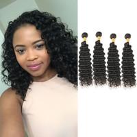 farklı boylar saç toptan satış-Laflare Saç Ürünleri Yeni Varış Brezilyalı Derin Örgü Virgin Yumuşak İnsan Saç 4 Paketler Sizin Için Farklı Boyut