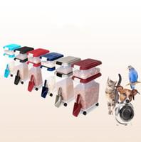 kedi mühürleri toptan satış-10L Pet Gıda Depolama Konteyner Tutucu Besleme Köpek Kedi Bin Rolling Scoop Mühür Taze Köpek Besleyici Tekerlek CCA9734 Ile Gıda Malzemeleri 10 adet