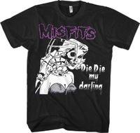 nova roupa punk venda por atacado-Cool Engraçado T Shirt de Alta Qualidade Tees Novo Misfits Punk Die Die My Darling Shirt (SML-2XL) Danzig Anime Roupas Casuais